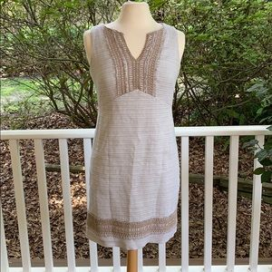 Embellished fitted tank dress